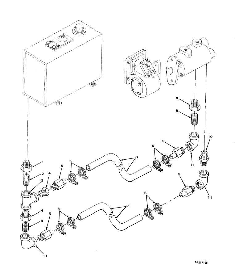 FIGURE 267. RESERVOIR TO PUMP LINES AND FITTINGS (MODELS