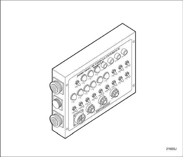 Figure 6-4 DDEC III Vehicle Interface Module, J 41005