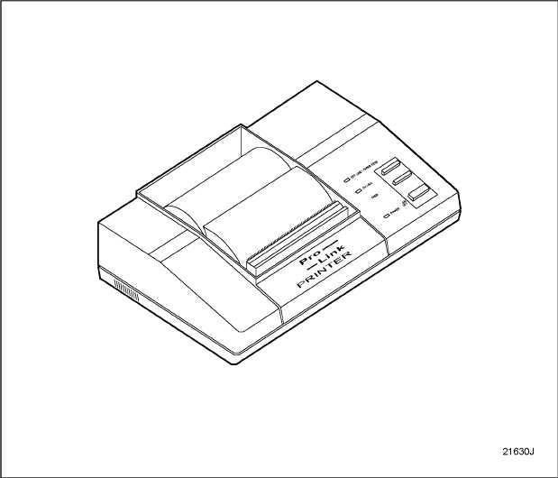 Figure 6-5 Pro-Link 9000 Printer, J 38480