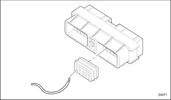 Figure 8-1 Inserting Wire in Connector