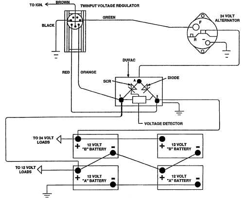 wiring diagram alternator 12 volt