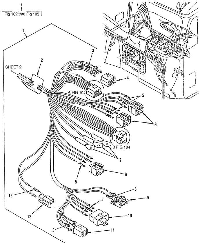 Figure 102. Main Cab Wiring Harness, Part 1 (Sheet 1 of 3)