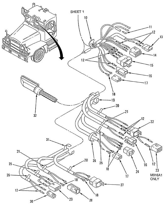 Figure 132. ECU Wiring Harness (M915A2, M916A1) (Sheet 2 of 2)