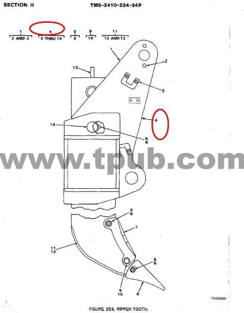 3830-01-272-0527 Shank-tooth, Surface Ripping