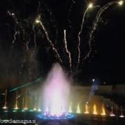 Por la noche en Futuroscope, espectáculo de luz, música, fuegos artificiales, 3D...