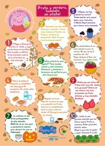 Comidas saludables con Peppa Pig