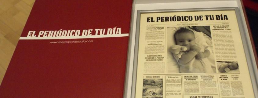 UN REGALO ORIGINAL PARA UN BAUTIZO: EL PERIÓDICO DE TU DÍA  Foto de %title