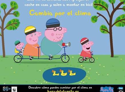 PEPPA PIG SE SUMA A LA LUCHA CONTRA EL CAMBIO CLIMÁTICO  Foto de %title