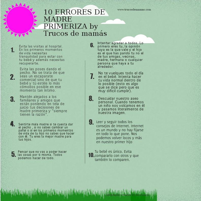 MADRE PRIMERIZA: 10 ERRORES QUE ES PREFERIBLE EVITAR  Foto de %title