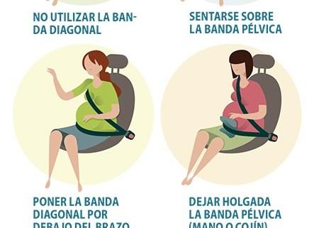 MAL USO DEL CINTURÓN DE SEGURIDAD EN EMBARAZADAS  Foto de %title