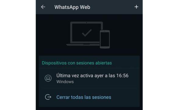 Cerrar sesión en whatsapp web