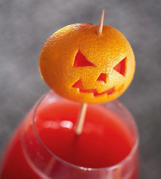 Decoración para Halloween casera: mandarina-calabaza