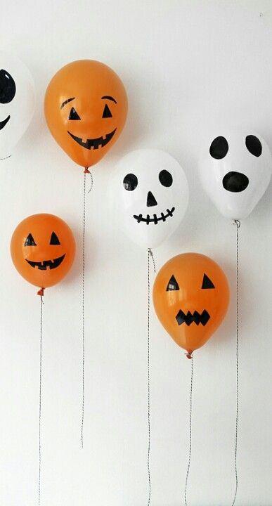 decoración para halloween casera con globos