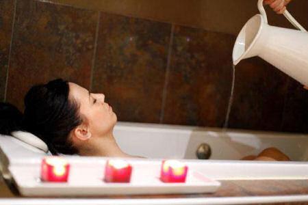 Baño totalmente relajante