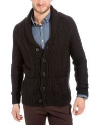 Gilet col châle trosadé - soldes hiver 2015 Brice - trucsdemec.fr, blog lifestyle masculin, mode homme, beauté homme