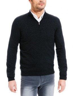 Pull mélange cachemire col montant Collection Brice Automne-Hiver 2015