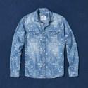chemise coton chambray Indigo celio printemps été 2016