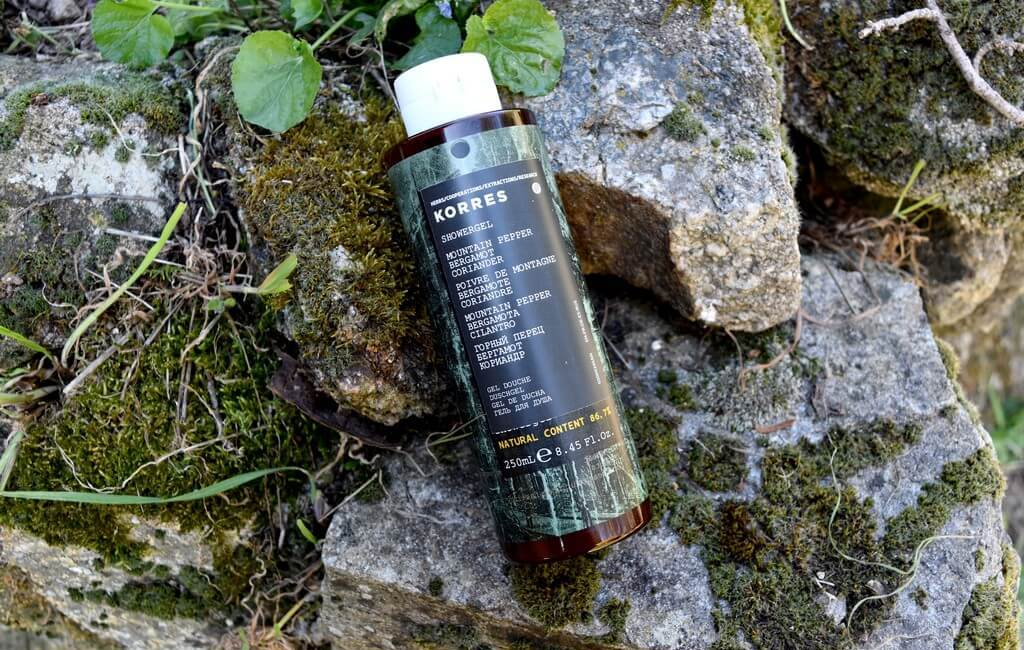 Gel douche Korres Mountain Pepper Bergamot Coriander