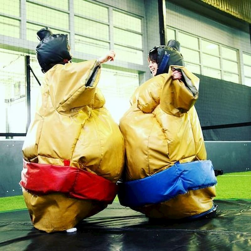 Combat de sumos gonflables