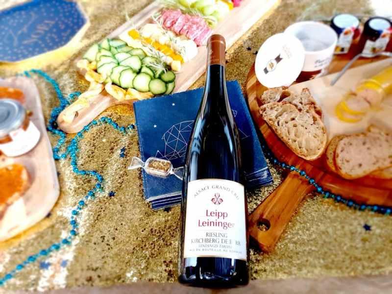 Sélection de vins pour le jour de l'an 2021 : Alsace Grand Cru Kirchberg de Barr Riesling 2015 Vendanges Tardives Bio Domaine LEIPP-LEININGER