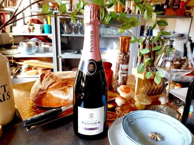 4 cuvées pour la Saint-Valentin 2021 :  Champagne Pannier Brut rosé