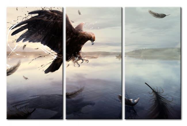 Décorations murales Bimago : tableaux à motif oiseau