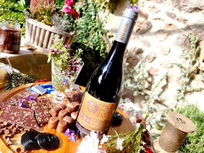Accord vin et Chocolat : La Belle Violette 2018, Savoie Mondeuse - Domaine Philippe et Sylvain Ravier