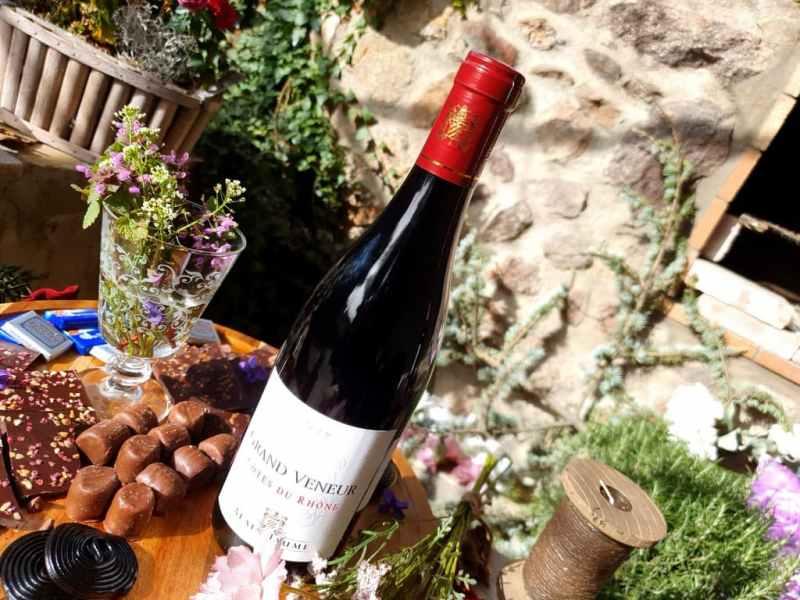 Accord vin et chocolat : Côte du Rhône rouge 2019 - Alain Jaume domaine Grand Veneur