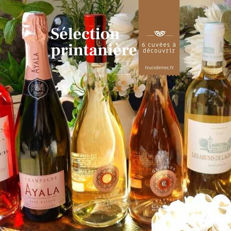 Sélection de vins pour le printemps 2021