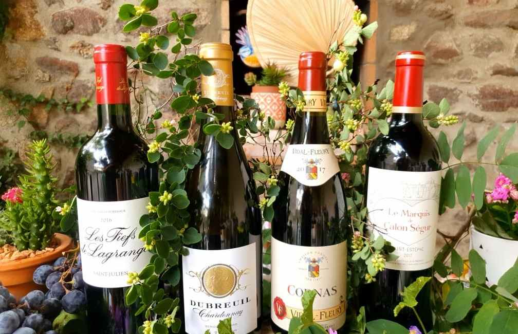 Sélection de vins pour le 15 août