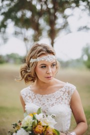 bohemian wedding hair