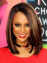 medium length hairstyles black