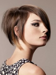 stacked short haircuts women
