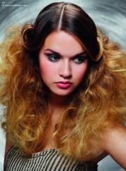 teased hairstyles long hair