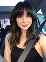 long hairstyles with bangs 2019