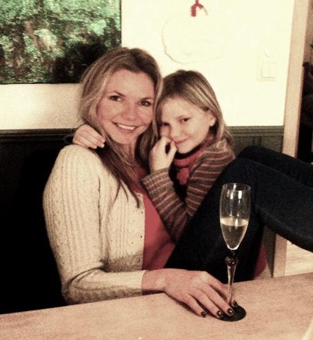 Josefine og meg nytt års aften