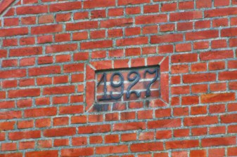 Date of construction of one of the houses in Trudna.