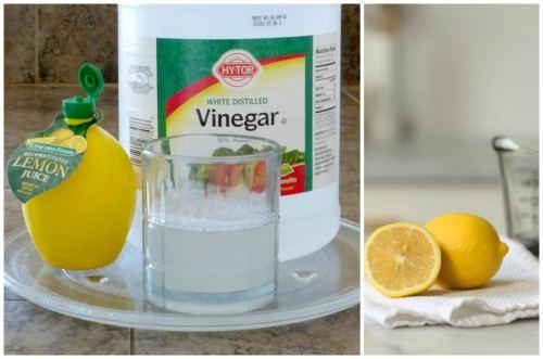 Lemon, citric acid, vinegar