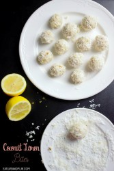 easy lemon coconut balls
