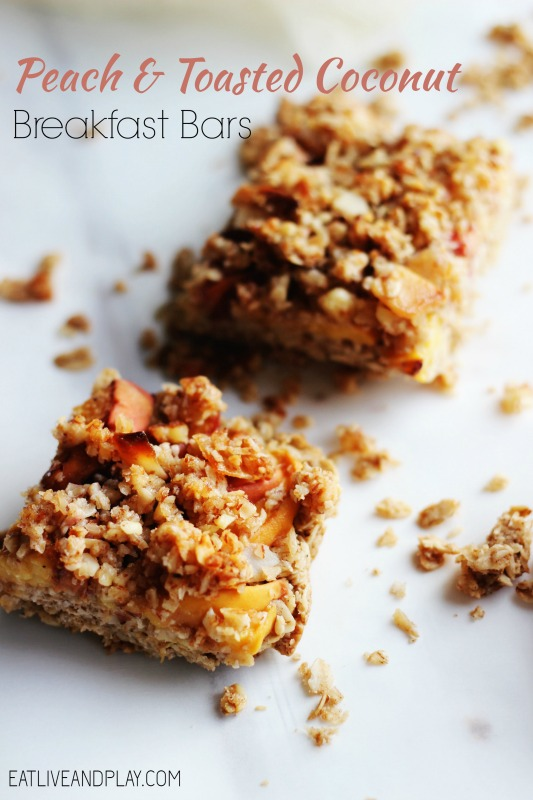 Peach and Toasted Coconut Breakfast Bars ELP