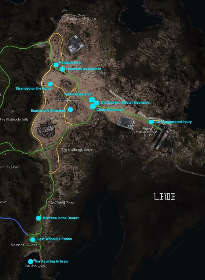 Ffxv Complete Map : complete, Guide, Final, Fantasy, Chapter