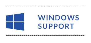 windows support button