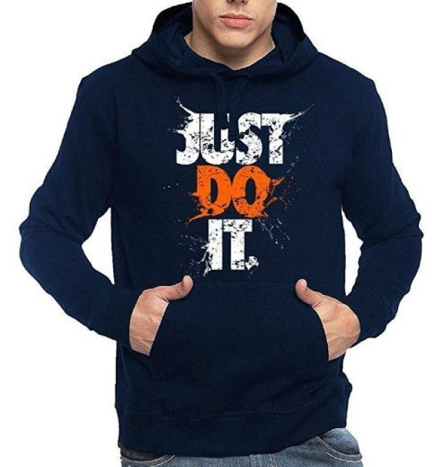 Typography Printed Cotton Hoodies