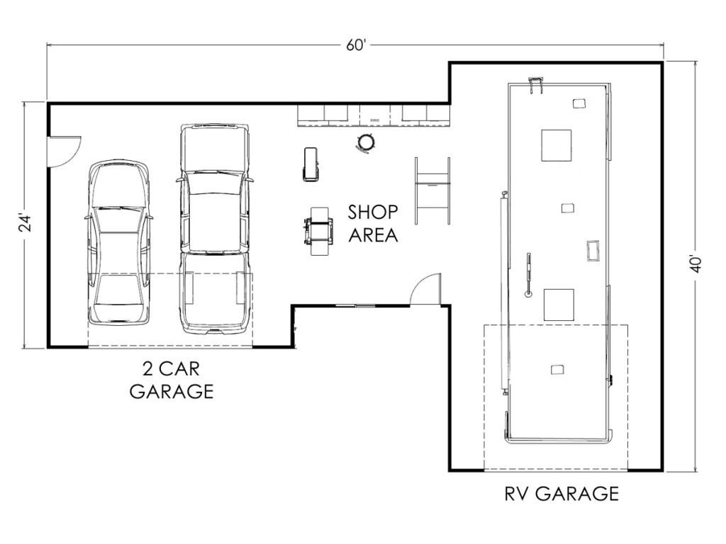 Garage Plans 40 X 60  Ksheda