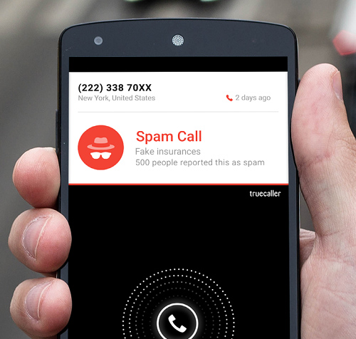 Caption: Truecaller Spam Call Detection on Android