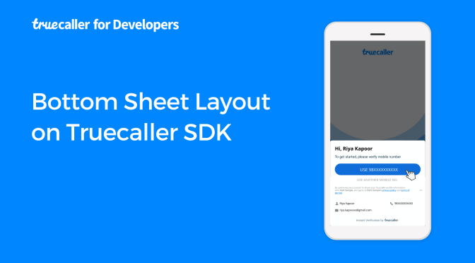 Bottom Sheet layout on Truecaller SDK