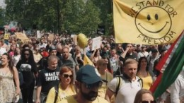 London Freedom March, May 29, 2021.
