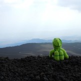 At the top of Mount Etna!