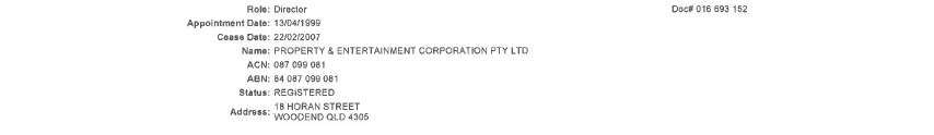Property and Entertainment Corporation
