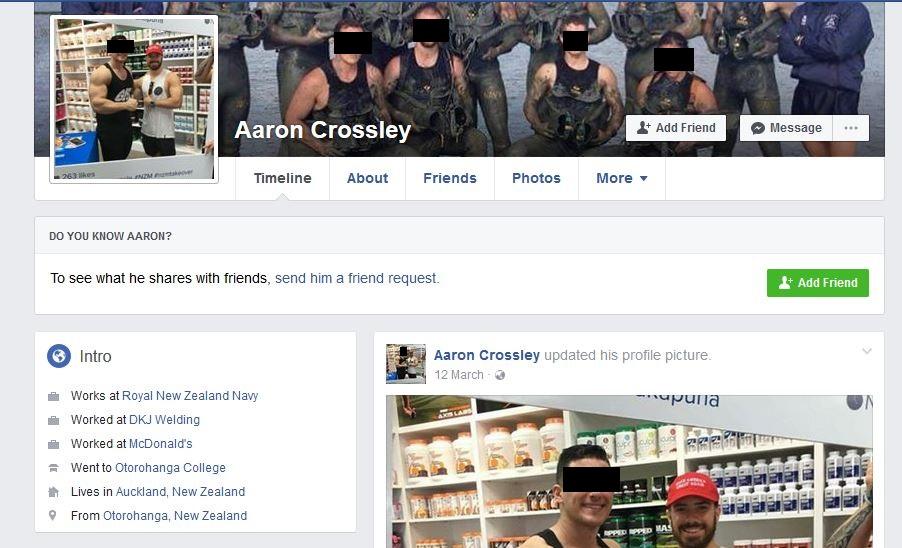 AaronCrossleyFacebookProfileBlackout